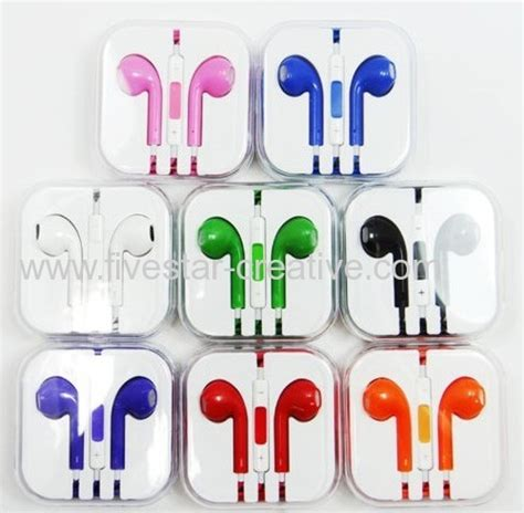 colored apple earbuds colored new earphone headphone cable set with remote mic