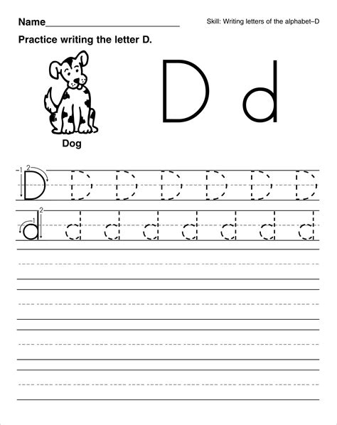 printable tracing letter d letter d tracing worksheets for preschoolers alphabet