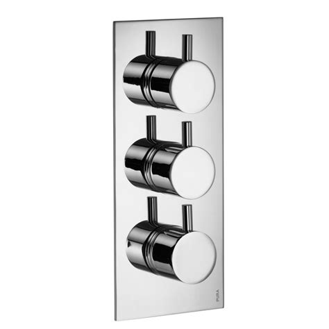Thermostatic Bath Mixer Shower flova levo twin outlet triple concealed thermostatic