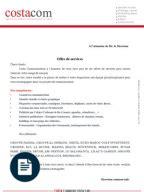 Modèles De Lettre D Offre De Service Lettre Proposition De Services