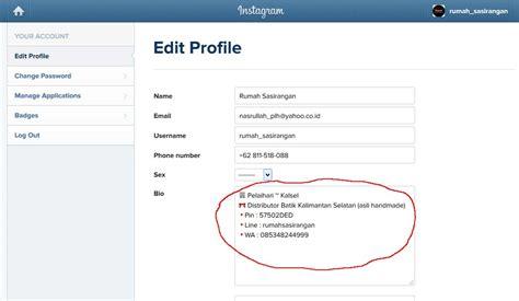 cara membuat bio instagram yang menarik cara mengedit profil instagram biar tambah cantik motif