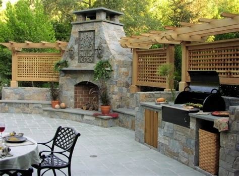 outdoor kitchen and fireplace designs creating the ideal outdoor summer kitchen this fall