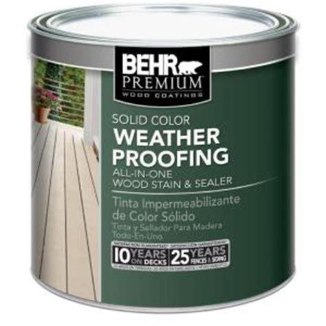 behr premium  oz tintable solid color weatherproofing