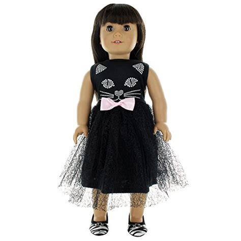 j brand the doll black doll clothes cat black dress fits american