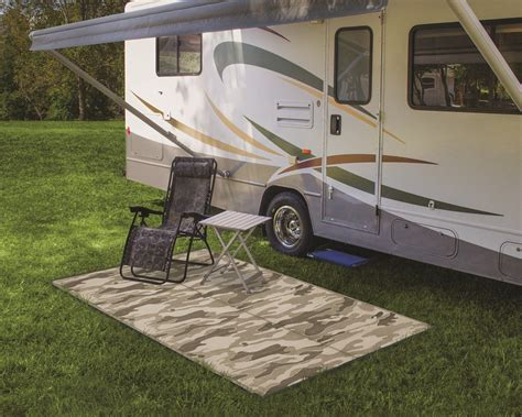 Rv Patio Accessories Camco Reversible Rv Leisure Mat 9 X 6 Wide