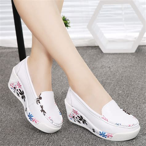 sale new s genuine leather platform shoes wedges