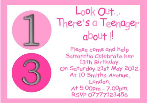 13th birthday invitations templates personalised boys 13th birthday