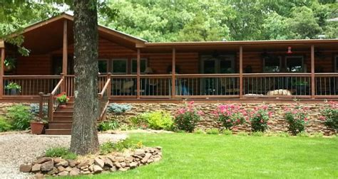 Cabin Skirting Ideas by Gorgeous Rustic Cabin Manufactured Home Remodel