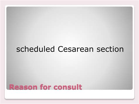 scheduling c section ppt placenta previa powerpoint presentation id 436513
