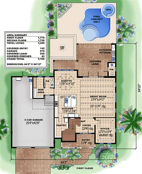 Coastal Floor Plans by Open And Inviting Beach House Plan 66307we