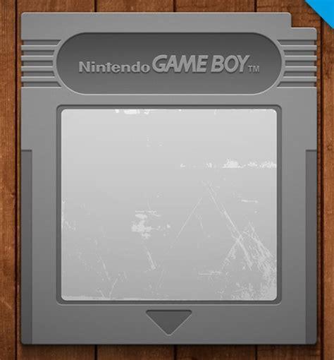 Free Nintendo Game Boy Cartridge Psd Mockup Titanui Gameboy Label Template