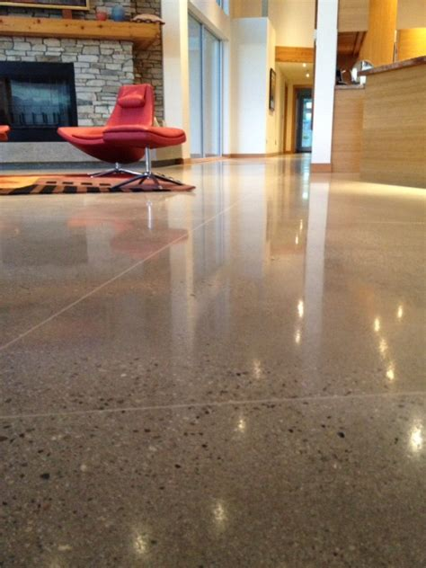 What are the different types of polished concrete