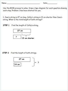 diagram eureka math 2nd grade module 2 eureka math 2 step word problems with diagrams practice