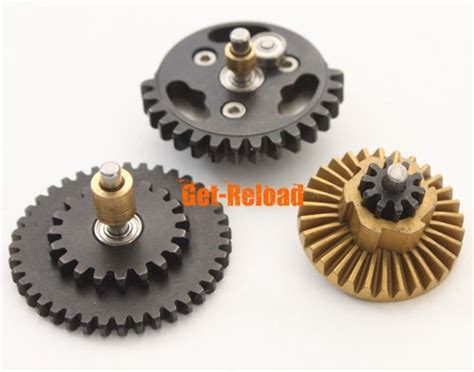 Shooter Gearset Ratio 14 1 shooter 14 1 precision speed up gear set for ver 2 3 aeg airsoft gearbox ebay
