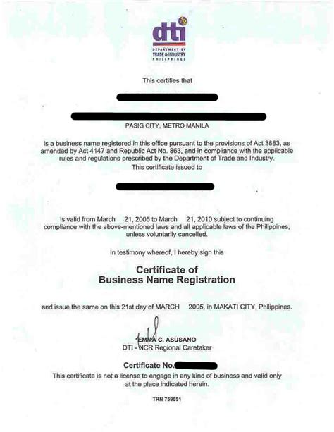 sle of certification letter for business certification letter philippines 28 images doc 404522