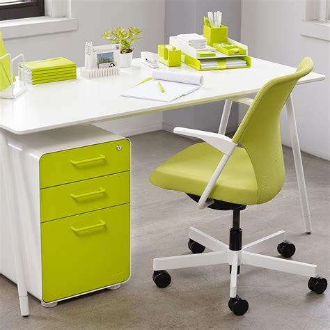 white lime green west 18th 3 drawer file cabinet