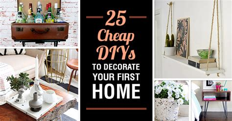 cheap diy projects for your home 25 diy projects to decorate your first home on the cheap