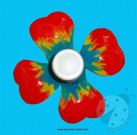 fiore con la o fiore con bottiglia di plastica lavoretti creativi