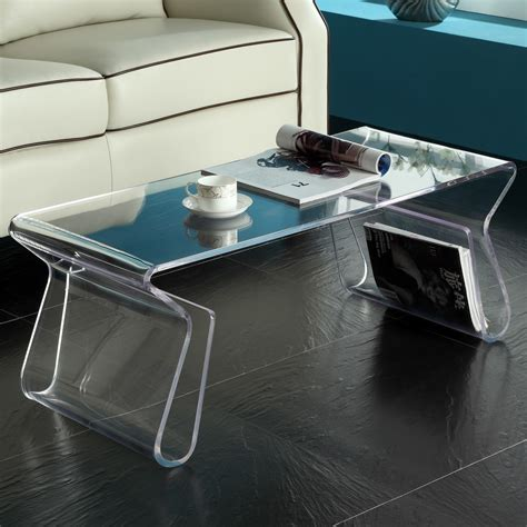 plastic coffee table plastic acrylic coffee tables design regarding acrylic end