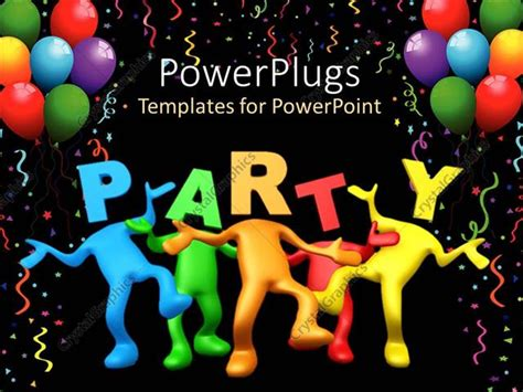 Powerpoint 2010 Birthday Themes | powerpoint template party celebration balloons birthday