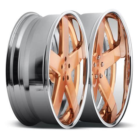 rose gold chrome dub forged baller x84 wheels socal custom wheels