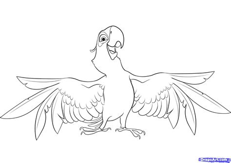 Coloring Activity Pages Blu The Blue Macaw From Quot Rio Macaw Coloring Page