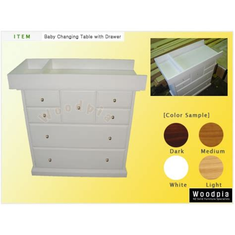 Baby Drawers With Change Table Woodpia Baby Change Table W