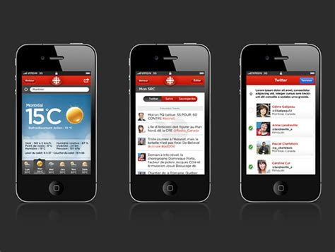 Touch L Canada by Application Iphone Android Radio Canada On Behance