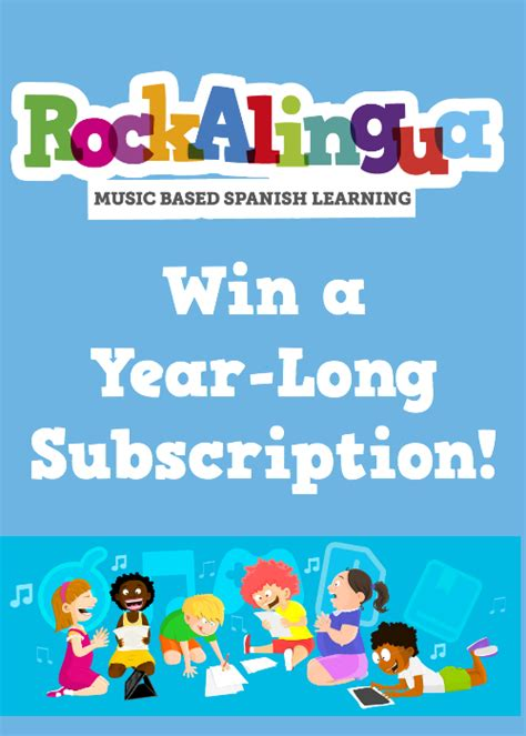 Subscription Giveaway - rockalingua subscription giveaway spanish playground