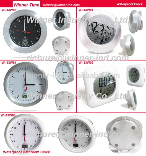 Sempre Bathroom Radio Controlled Clock Lcd Digital Bathroom Clock With Radio Controlled