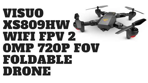 Drone Visuo Xs809hw Wifi 2 0mp visuo xs809hw wifi fpv 2 0mp 720p fov foldable drone