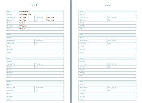 Search Results For Address Book Templates Printable Calendar 2015 Microsoft Word Address Book Template