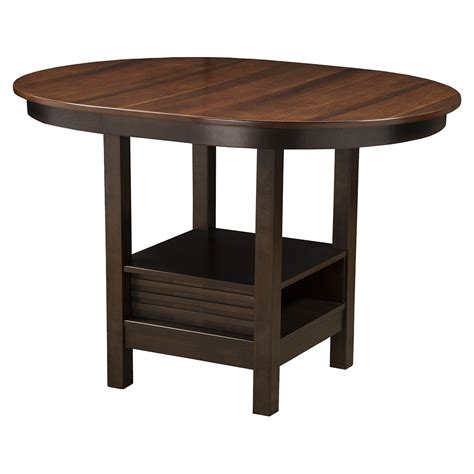 Espresso Bistro Table Davenport Pub Table Espresso Finish Walnut Top Dcg Stores