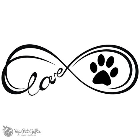 infinity paw print tattoo image result for infinity paws decal tattoos
