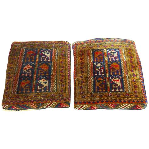 pillows and rugs pair of oversized turkish rug pillows for sale at 1stdibs