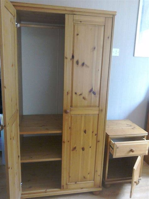 30 best ideas of pine wardrobe with drawers and shelves