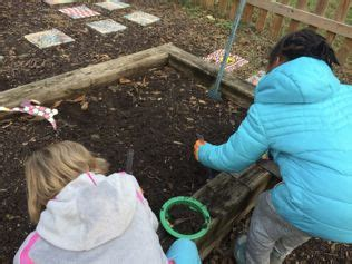 children collecting earthworms   school garden computational thinking science