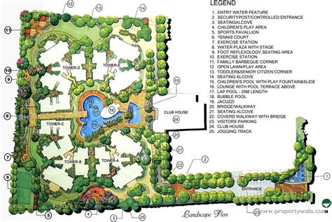 landscape floor plan landscape plan architecture plans 75570