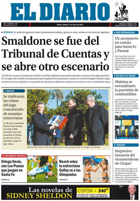 peri 243 dico el diario de paran 225 argentina peri 243 dicos de