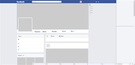 facebook layout template vector blank facebook profile layout www pixshark com images