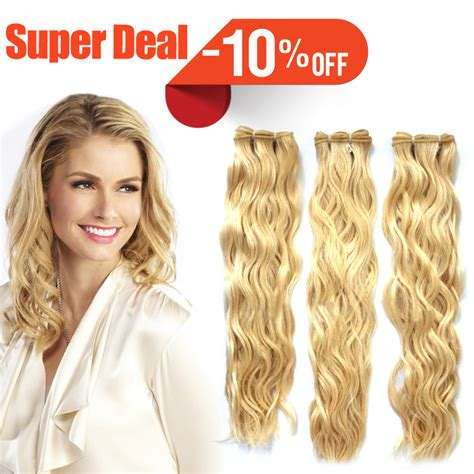 shipping 100 human hair curly remy clip in virgin india human hair free shipping 613 lightest blonde weave natural curly 100