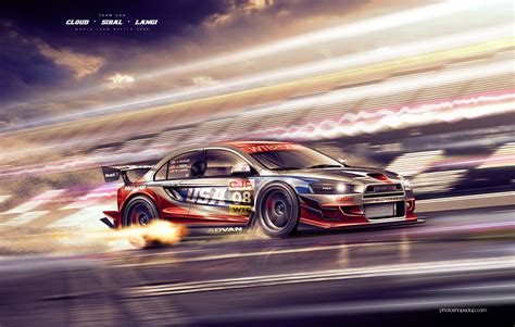 mitsubishi street racing cars 20 amazing beautiful digital art desktop wallpapers in