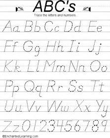 writing letters and numbers d nealian style