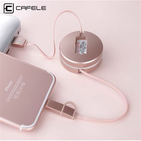2in1 Kabel Cable Data Microusb Iphone 5 6 Lightning 12 Meter Papada cafele 2in1 retractable usb cable for iphone 5 and above 8 pin port android micro usb port