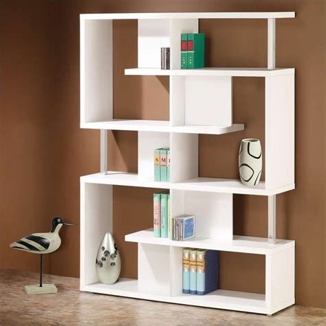 cube bookcase white coaster modern cube bookcase in white 800310