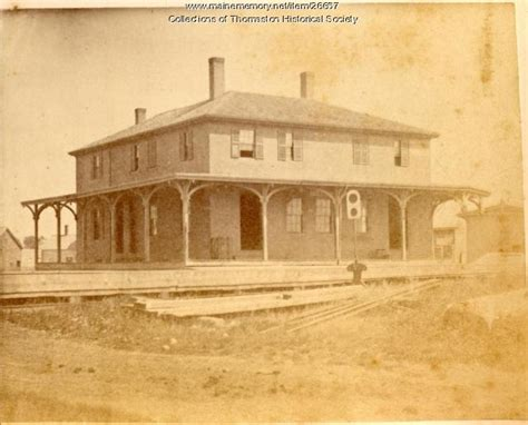 maine memory network railroad depot thomaston 1871