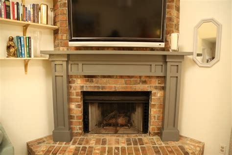 brick fireplace mantels easy fireplace mantel diy checking in with chelsea