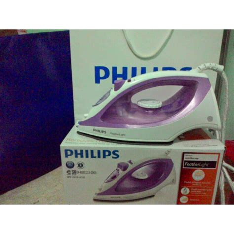 Setrika Uap Steam Q setrika uap steam iron philips feather light gc 1418 elevenia