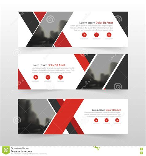 layout banner template red black corporate business banner template horizontal