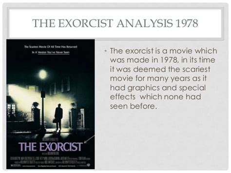 exorcist film analysis conventions of horror posters drag me to hell the